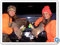Two Ladies with Doe's