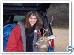 Woman with Buck