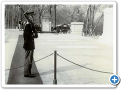 "Arnie Mauer (owner Dave's Dad) guarding the ""Tomb of the Unknown Soldiers"" in Arlington National Cemetery"