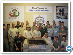764th EOD Company saying thanks to Wisconsin River Meats